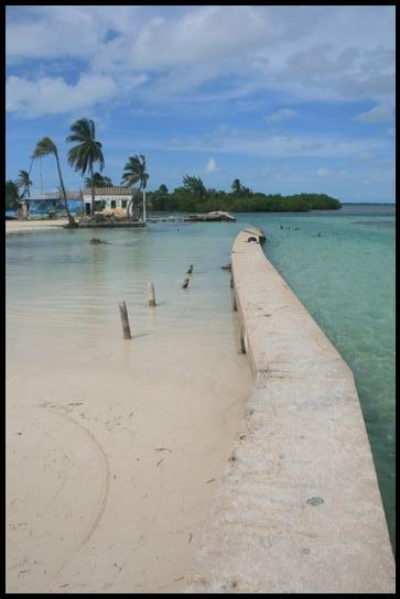 The split of Caye Caulker