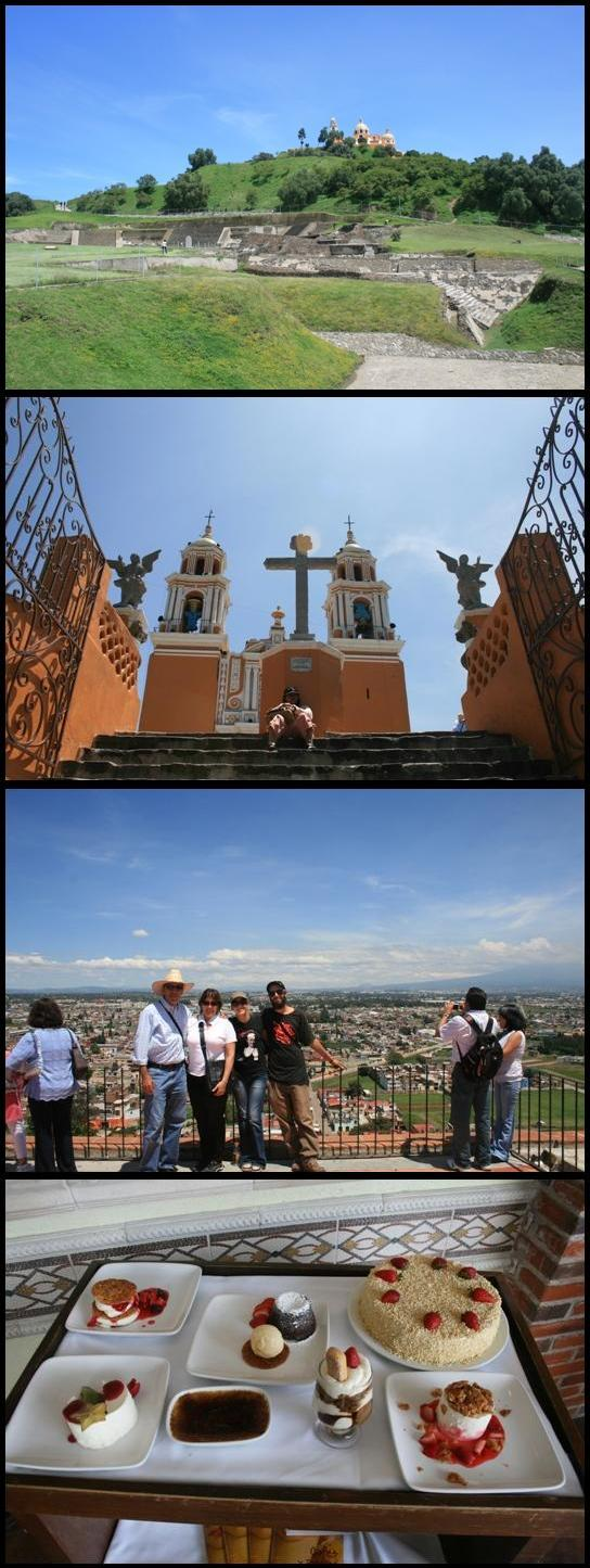 Cholula ruins church and view