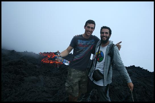 Vins & Angus with the lava