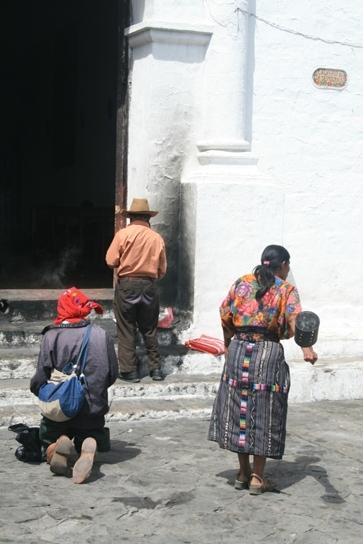 Chichicastenango church people