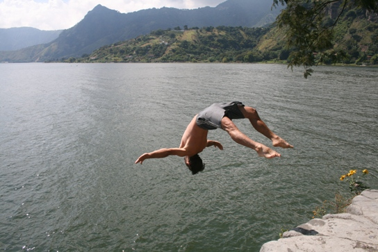 Backflip small cliff san marcos
