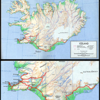 Islande carte itineraire