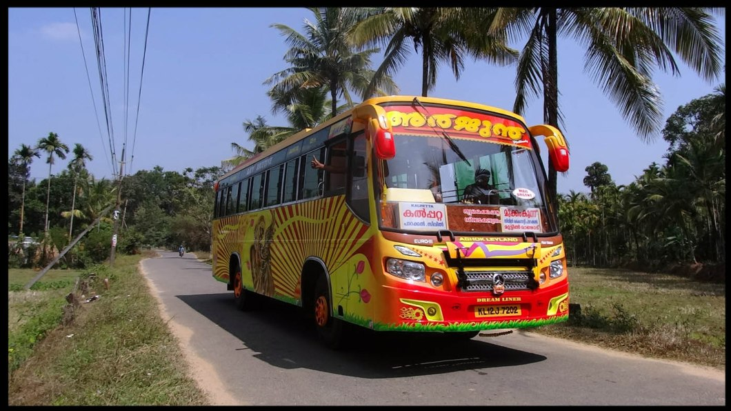 colorful indian bus