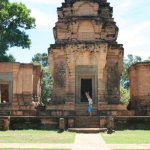 Handstand in Angkor Wat