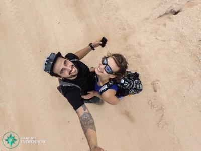 sandy selfie