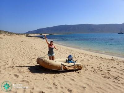 small boat beach