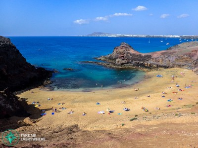 Lanzarote crowded beach