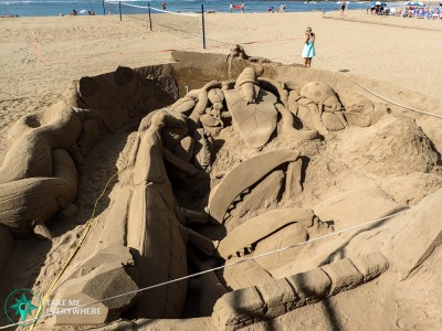Big sand sculpture