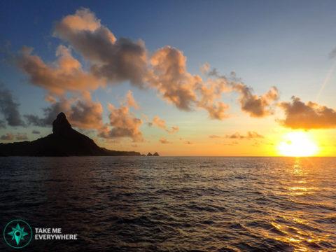 Sunset depuis le bateau