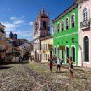 Colorful town in Salvador de Bahia