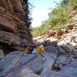 Handstand during the trek