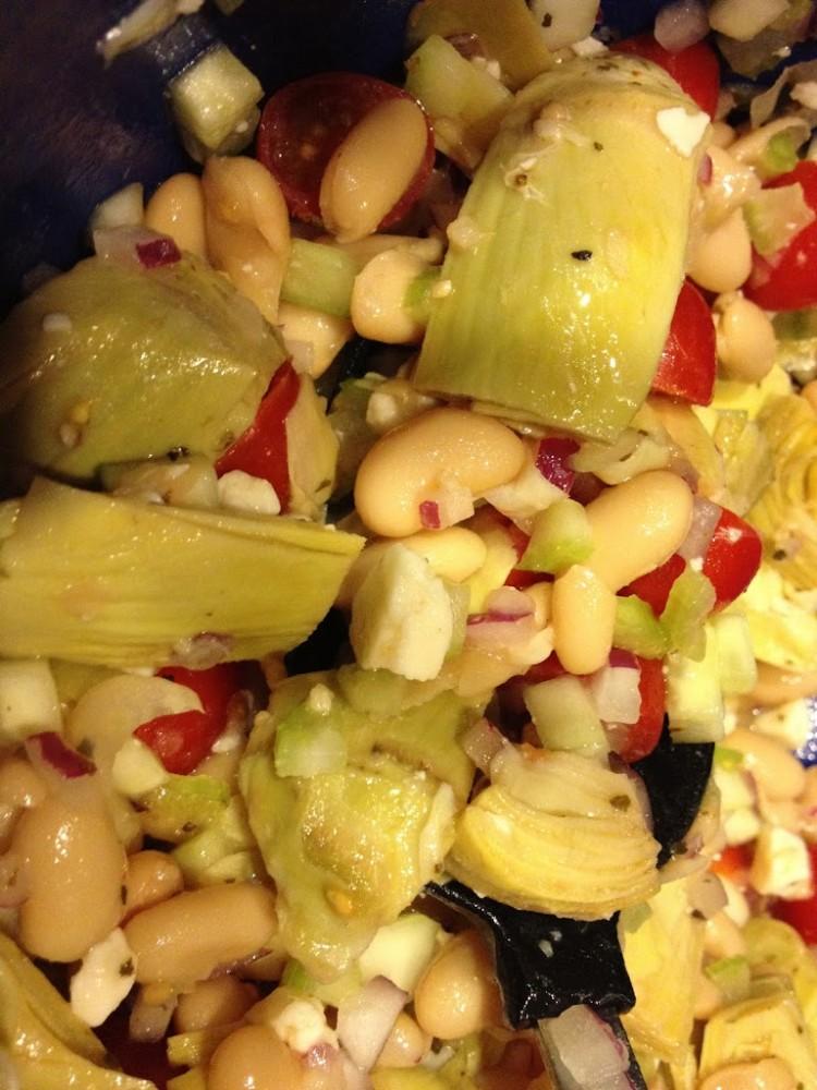 A recipe of my very own! White Bean & Artichoke Salad