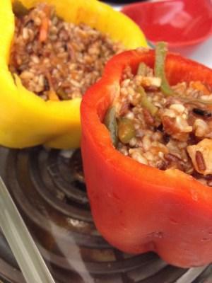 quinoa and veggie stuffed peppers