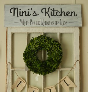 Personalized 9x30 wood sign~ Kitchen signs, home decor~ great Christmas gift!