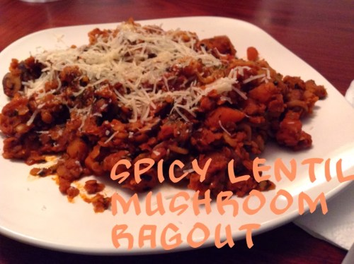 One-Dish Meals: Spicy Lentil Mushroom Ragout