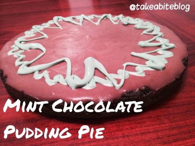Birthday Celebration with Mint Chocolate Pudding Pie