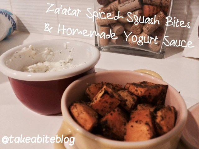 Za'atar Spiced Squash Bites with Homemade Yogurt Sauce