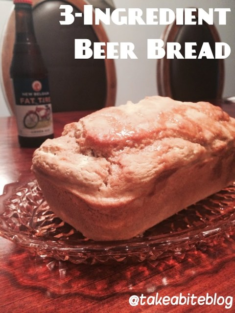 3-Ingredient Beer Bread for #SundaySupper