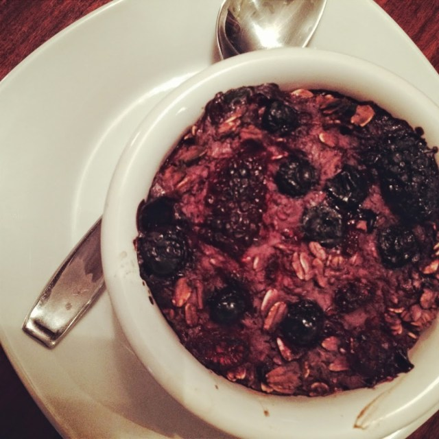 Peanut Butter and Jelly Baked Oatmeal #BrunchWeek