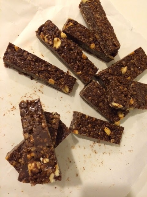 Dark Chocolate Peanut Butter and Nutella Granola Bars for #LeftoversClub