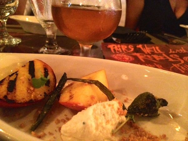 the rebel house grilled peaches whipped ricotta