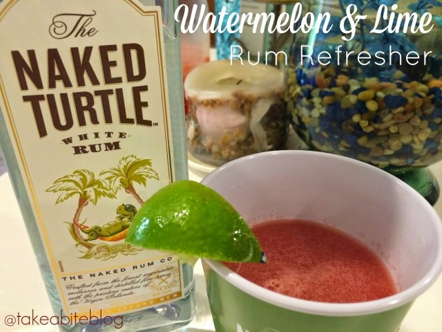Watermelon and Lime Refresher with Naked Turtle White Rum