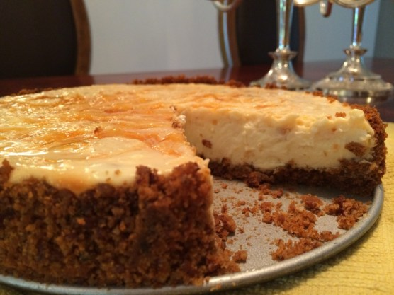 Lightened Up Apricot-Swirl Cheesecake for #CheesecakeDay