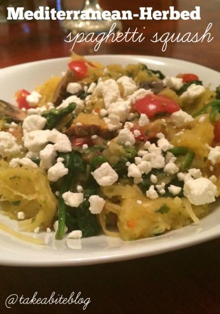 mediterranean-herbed spaghetti squash - take a bite out of boca
