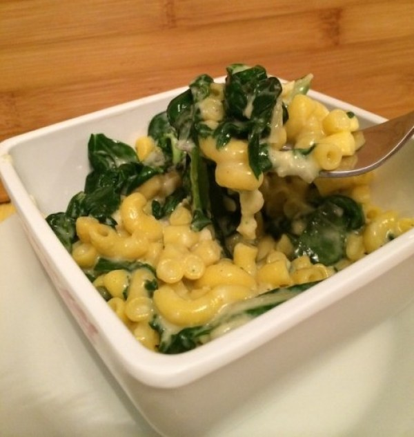 skinny spinach mac and cheese #sundaysupper