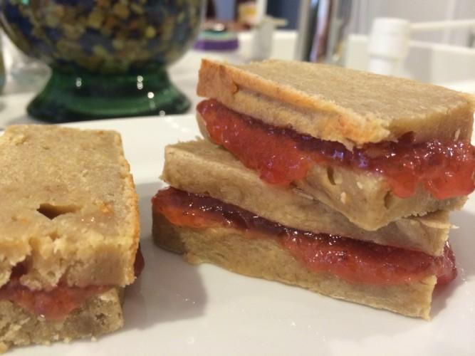 PB&J Banana Bread Sandwiches