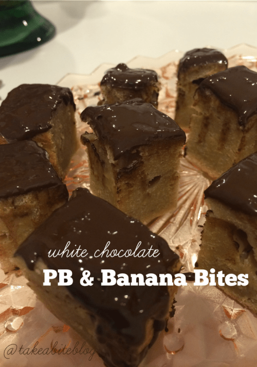 White Chocolate PB & Banana Bites #SundaySupper