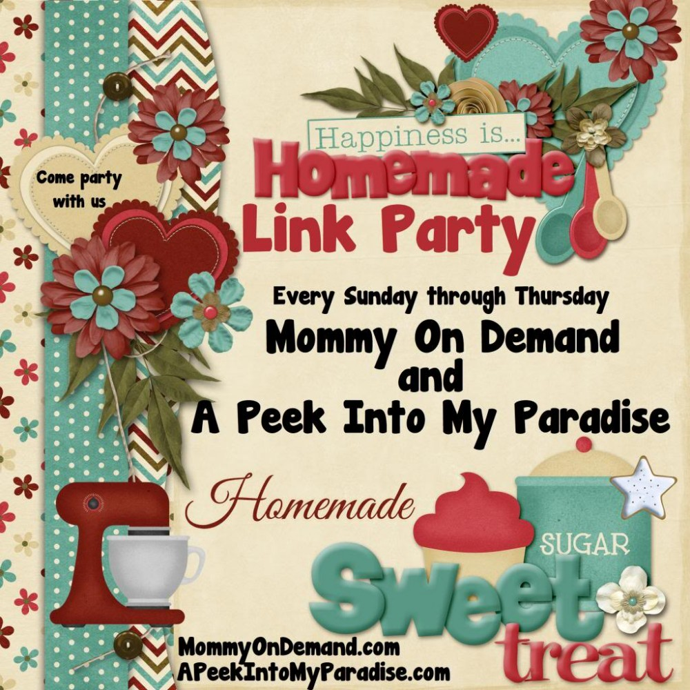 Happiness Is Homemade Link Party #39