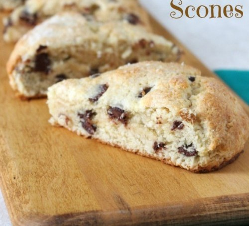Chocolate Chip Scones from Love and Confections