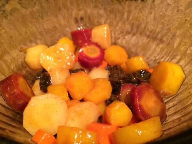 spiced tri-color carrot salad #sundaysupper