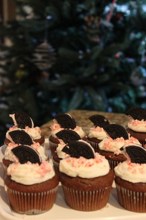 peppermint cream cookie cupcakes