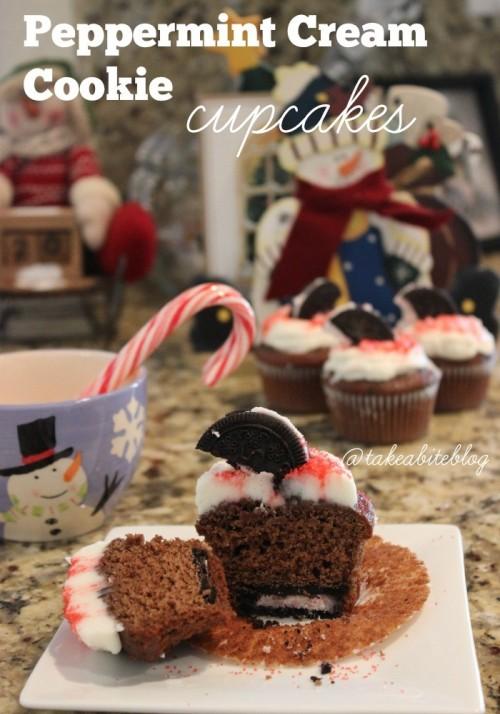 peppermint cream cookie cupcakes