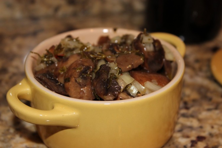 herb-marinated mushrooms #winepw