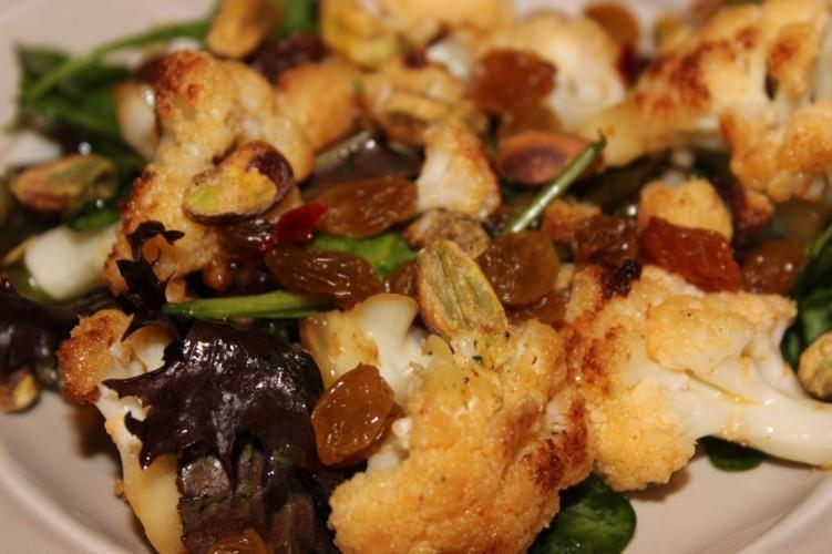 Sweet & Smokey Cauliflower Salad #SundaySupper