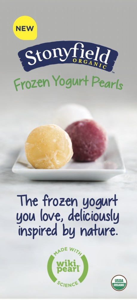 Stonyfield Frozen Yogurt Pearls Brochure 11.24