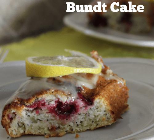 Lemon-Cranberry Poppyseed Bundt Cake #BundtBakers