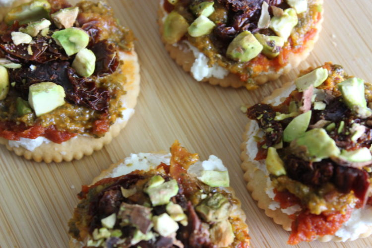 Sun-dried Tomato and Goat Cheese Stacks #StackItUp