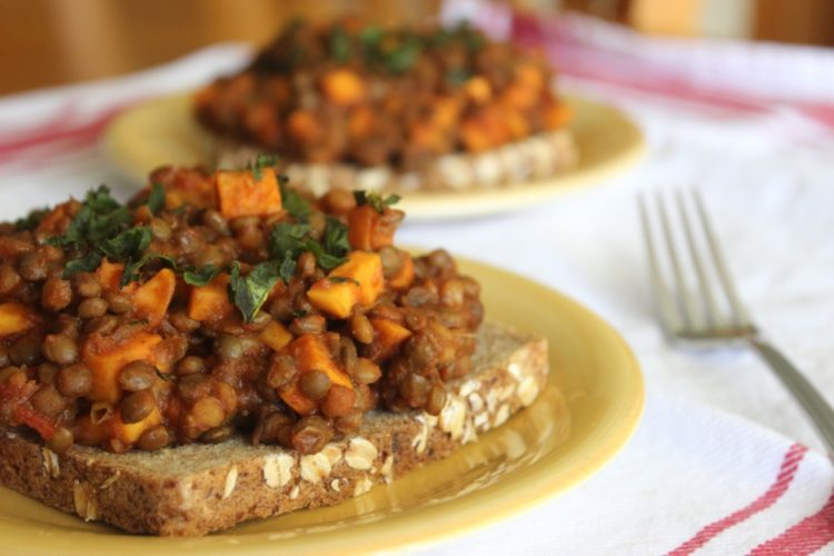 Vegetarian Lentil and Sweet Potato Sloppy Joes