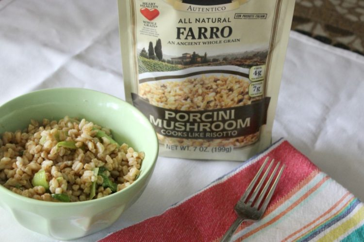 Farro Risotto with Porcini Mushrooms and Bok Choy #AlessiFoods