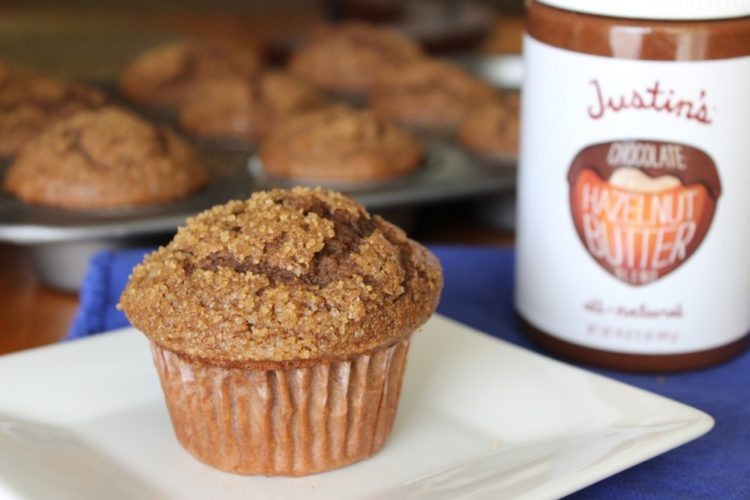 Chocolate Hazelnut and Banana Muffins #stonyfieldblogger