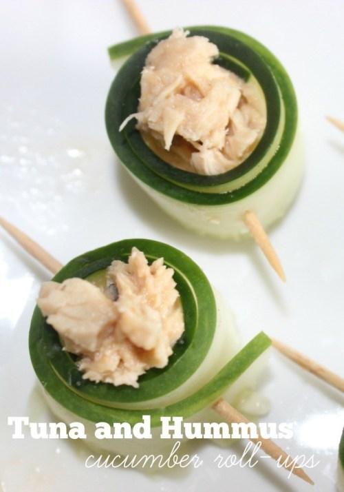Tuna and Hummus Cucumber Roll-ups #OnlyAlbacore
