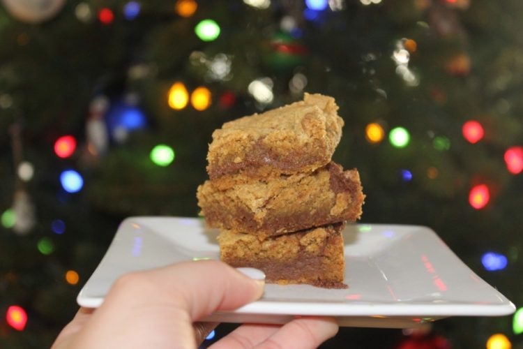 Easy Pumpkin Nutella Cookie Bars #SundaySupper