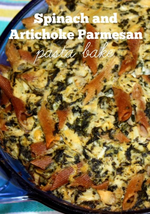 Spinach and Artichoke Parmesan Pasta Bake