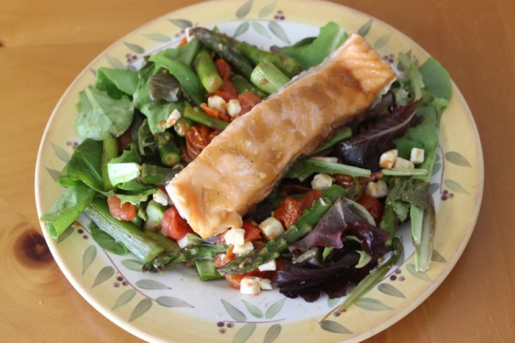 Spring Salmon Salad with The Saucy Fish Co.
