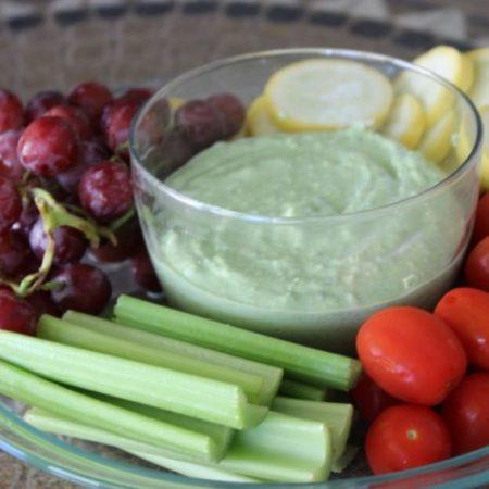 Spinach Pesto Greek Yogurt Dip #StonyfieldBlogger