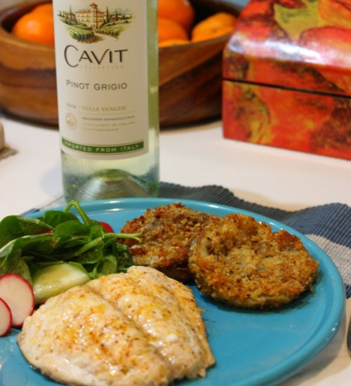 Celebrate #NationalPinotGrigioDay with Simple Lemon-Old Bay Baked Fish #LoveItShareIt